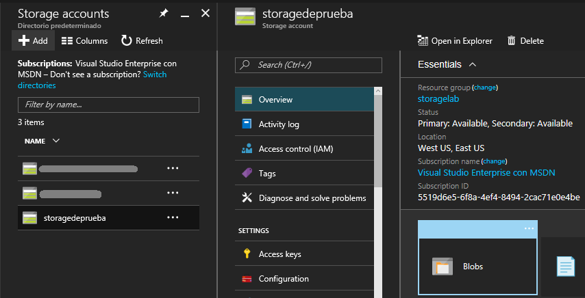Azure Storage Explorer